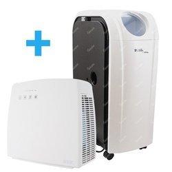Klimatyzator przenośny Fral SuperCool FSC 14.1 + Oczyszczacz powietrza Super Air SA 150W
